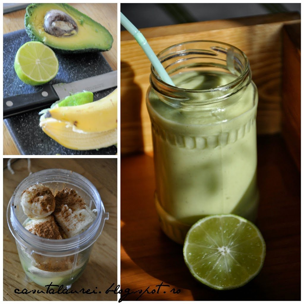 Smoothie cu avocado si lime