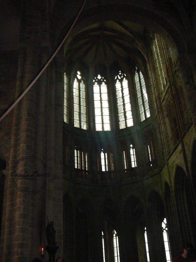 Mont Saint Michel. Biserica gotica.