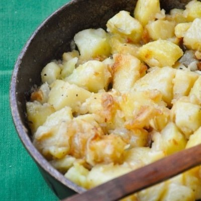 cartofi cu ceapa