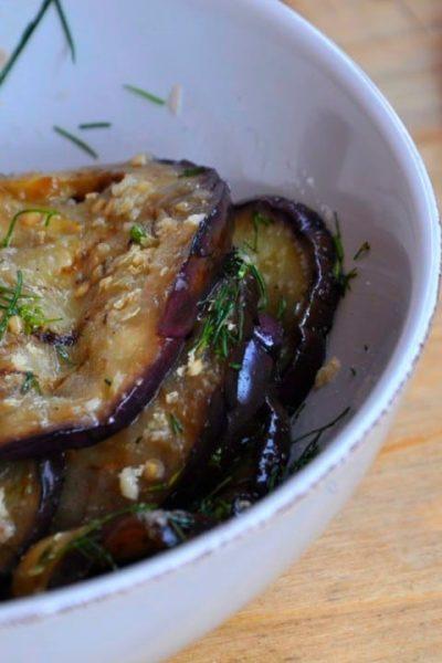 Salata de vinete coapte cu usturoi