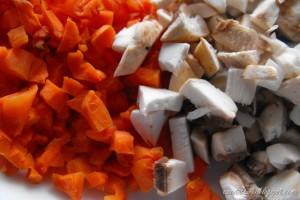 Rissotto cu morcovi si ciuperci
