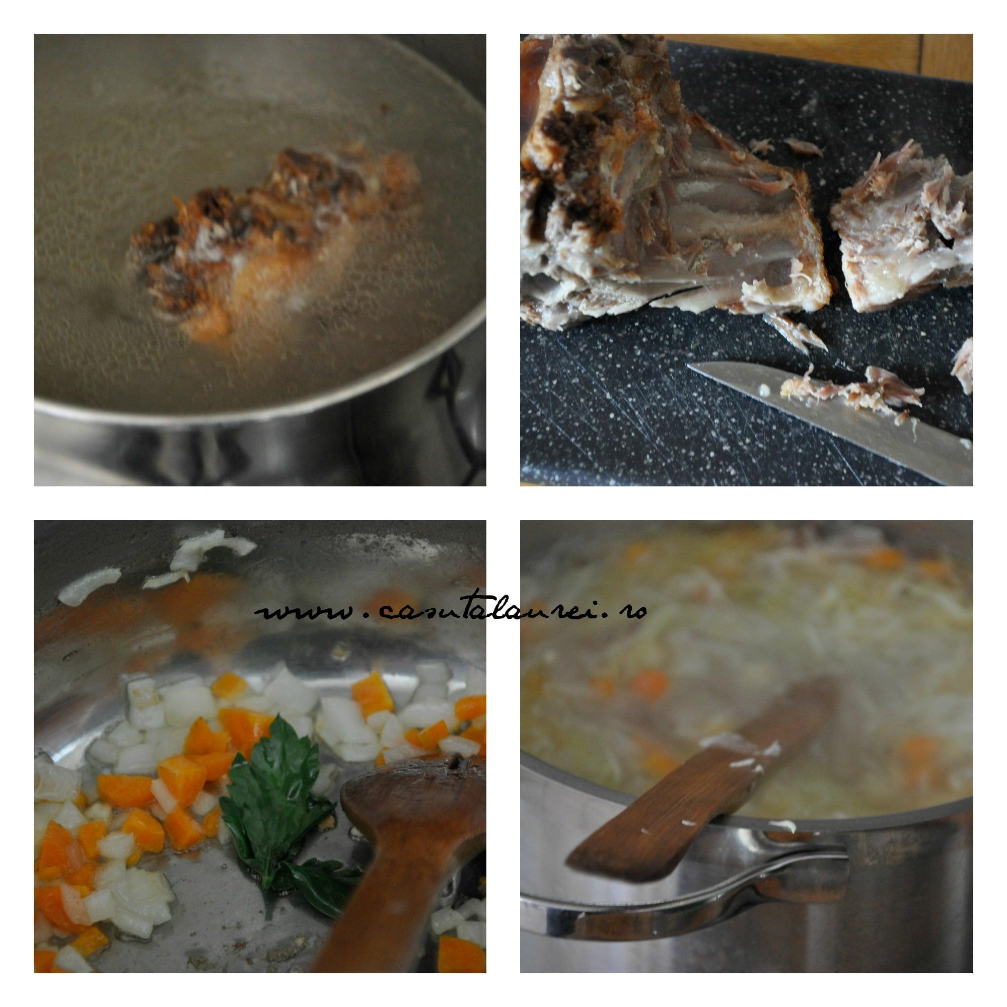 Ciorba de varza - making of
