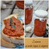 Zacusca cu ardei kapia (copti) si ciuperci