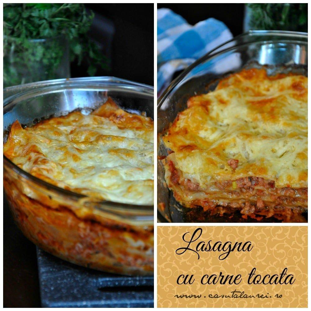 Lasagna cu carne tocata