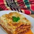 Lasagna cu carne tocata si sos bechamel