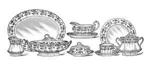 Set de masa din portelan