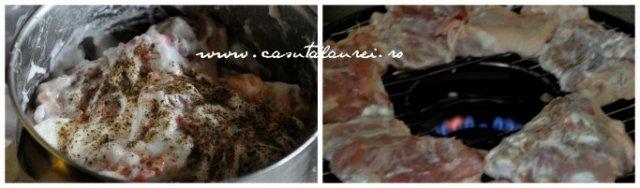 pui marinat in iaurt si gatit pe grill de aragaz