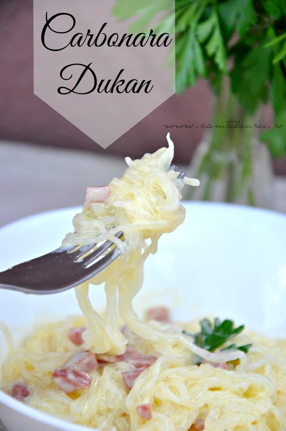 Paste alla Carbonara - Dukan style