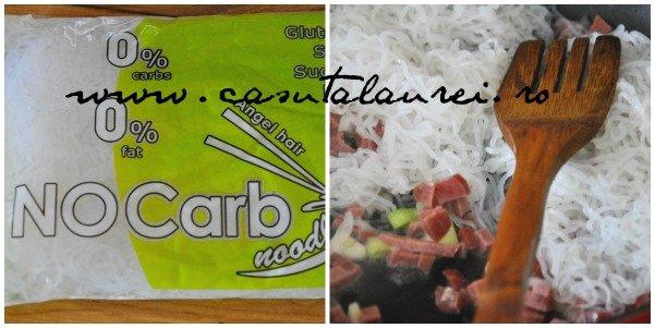 Paste alla Carbonara - Dukan style- making of