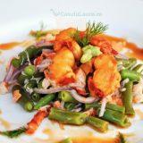 Salata calda cu fasole verde si homar - Gordon Ramsay style