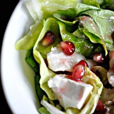 Salata cu branza feta si rodie