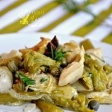 Salata calda cu sparanghel si anghinare