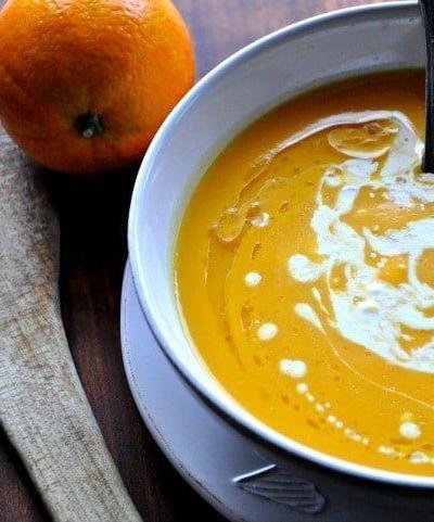 Supa crema de dovleac cu portocale