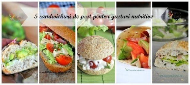 5 sandwichuri de post pentru gustari nutritive