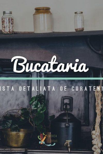 Bucataria – lista detaliata de curatenie